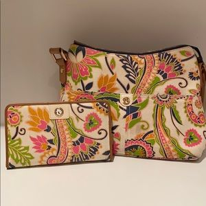 LIKE NEW - Spartina hobo with wallet
